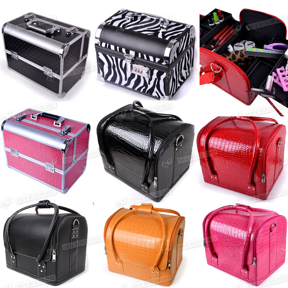 beauty vanity makeup trinket cosmetic box case nail polish storage make up bag ebay. Black Bedroom Furniture Sets. Home Design Ideas