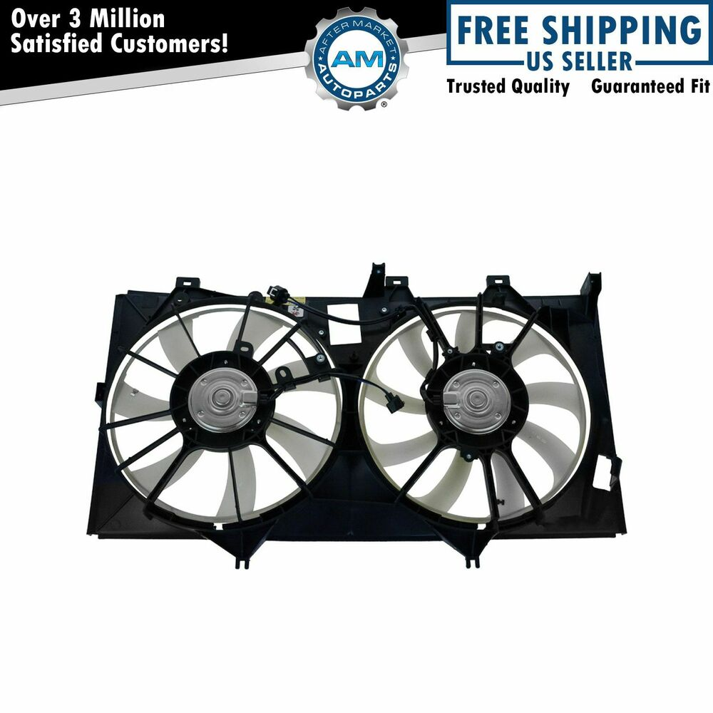 radiator dual cooling fan assembly for toyota camry avalon. Black Bedroom Furniture Sets. Home Design Ideas
