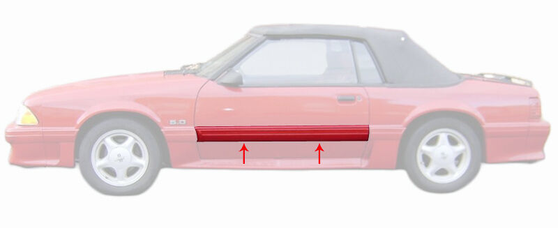 1987 1993 mustang gt door body side trim molding moulding for Ebay motors mustang gt