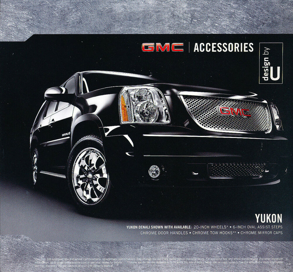 Details About 2008 Gmc Yukon Truck Original Dealer Accessories S Brochure
