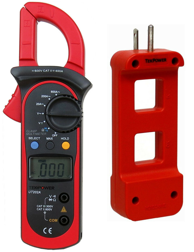 Ac Clamp Meter : Tekpower ut a ac dc voltage amp clamp meter with