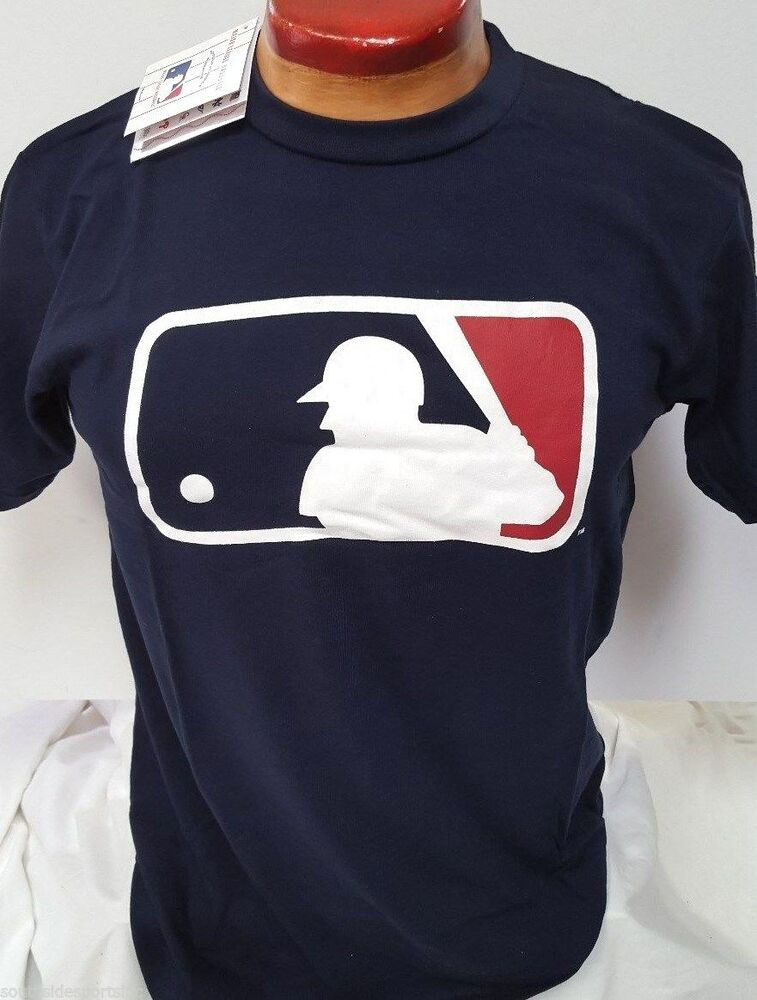 Majestic autentic mlb logo clubhouse t shirt navy blue new for Baseball logos for t shirts