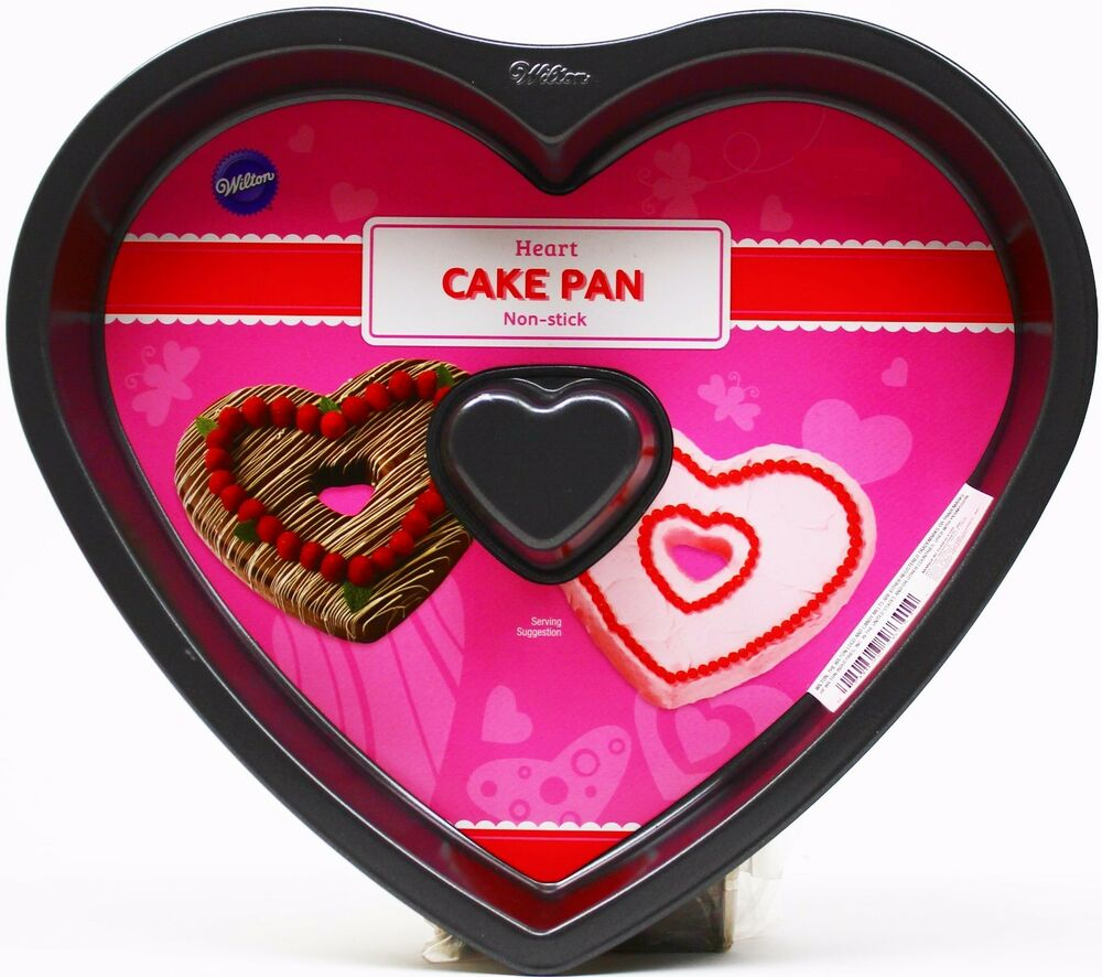 Wilton Valentine Heart Shaped Fluted Non Stick Cake Pan