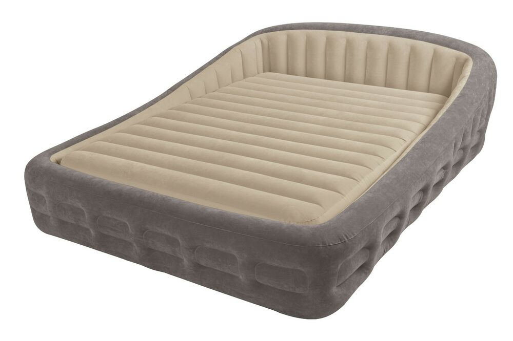 Intex Queen Comfort Frame Airbed 2 N 1 Air Bed W
