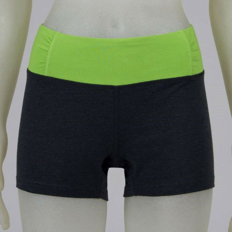GRAY & LIME EVERLAST BIKE VOLLEYBALL YOGA SHORTS PANTS