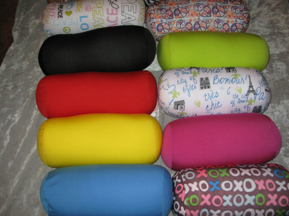Decorative Bed Roll Pillows : Decorative Neck Roll Microbead Pillow Soft Bed Couch Sofa Travel NEW! eBay