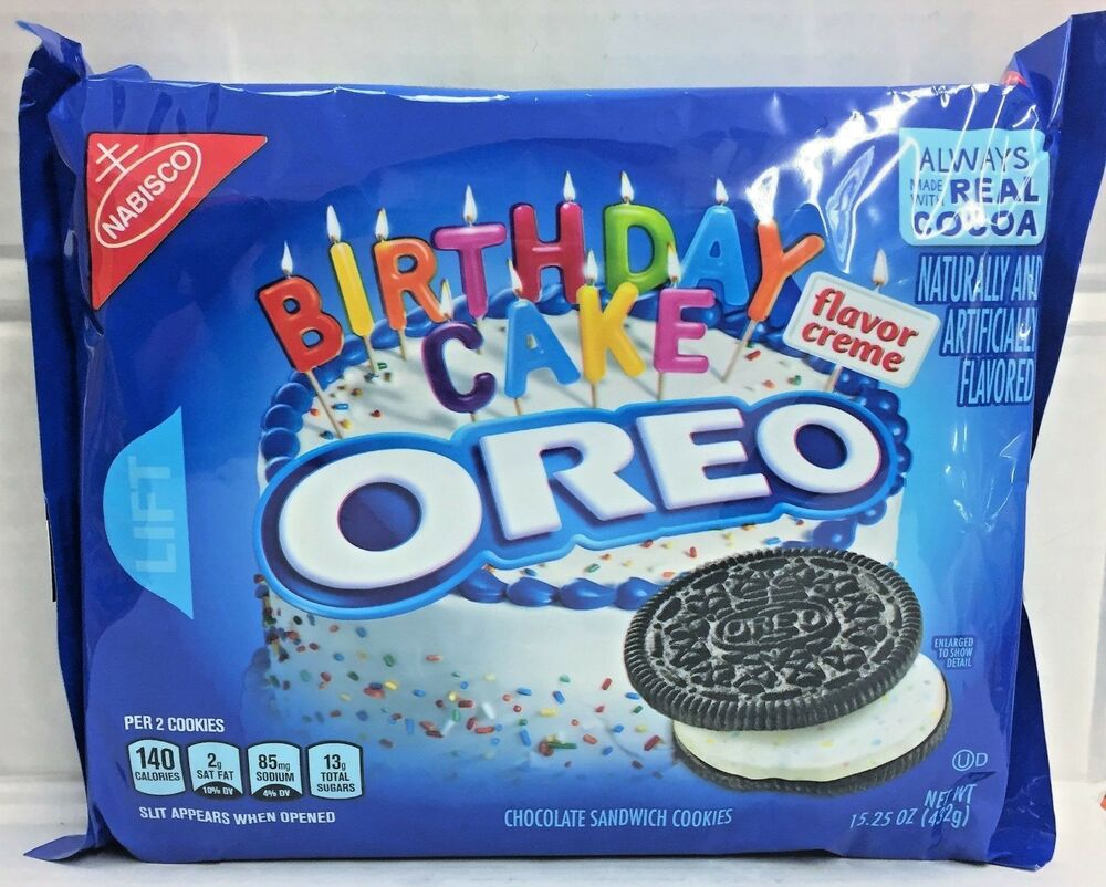 Nabisco Oreo Birthday Cake Sandwich Cookies 15.25 oz  eBay