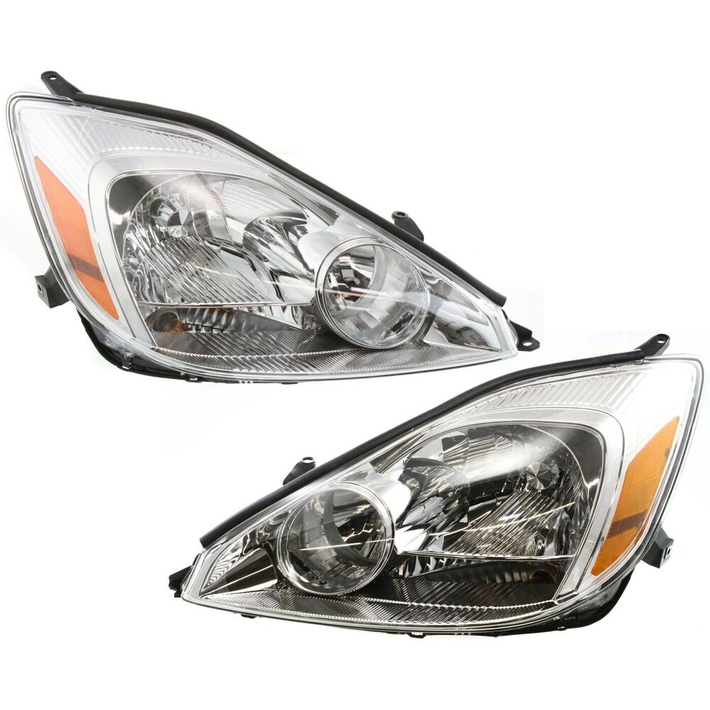 Details About For 2004 2005 Toyota Sienna Headlights Headlamps Left Right 04 05 Halogen Lights