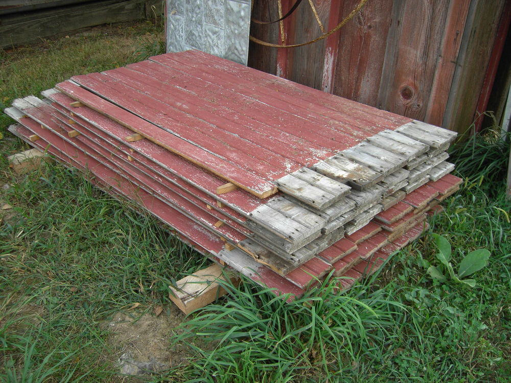 Antique Barn Siding Bead Board RED.as found by the sq foot ...
