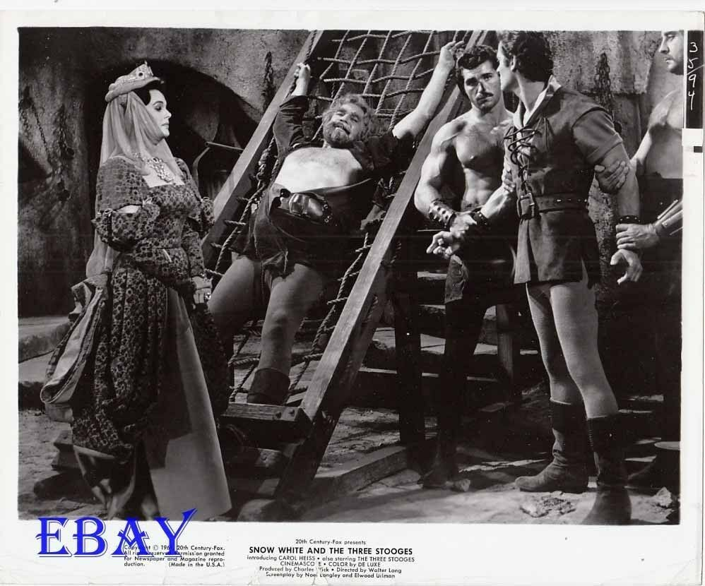 Man Bound Barechested Men Vintage Photo Snow White And The