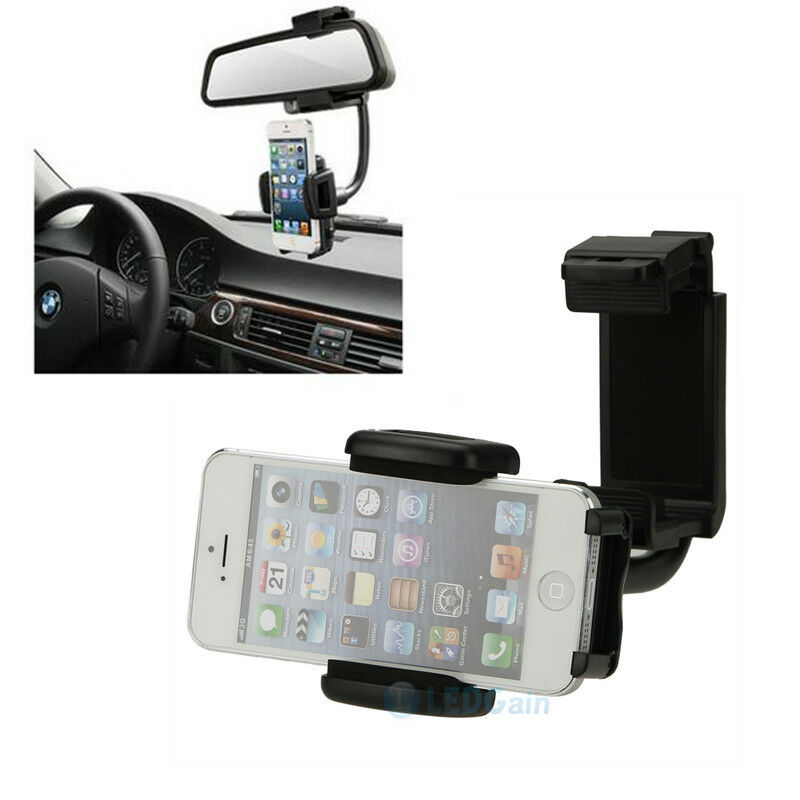 Car rearview mirror mount holder for cell phone iphone 5 for Phone mirror