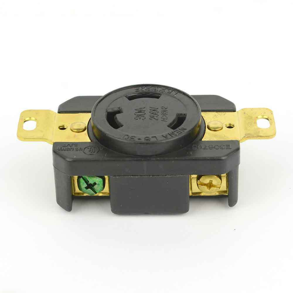 Twist Lock Wall Mount Electrical Receptacle 3 Wire  30