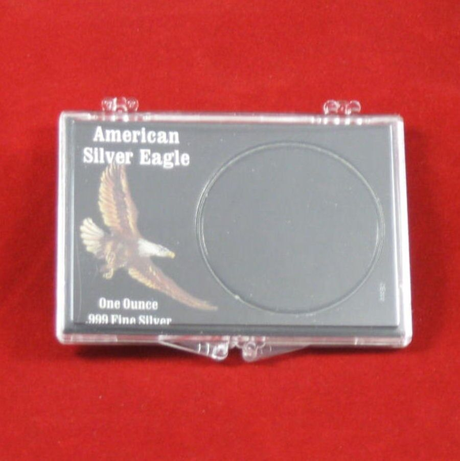 Snaplock Coin Cases Holders 1 Oz American Silver Eagles