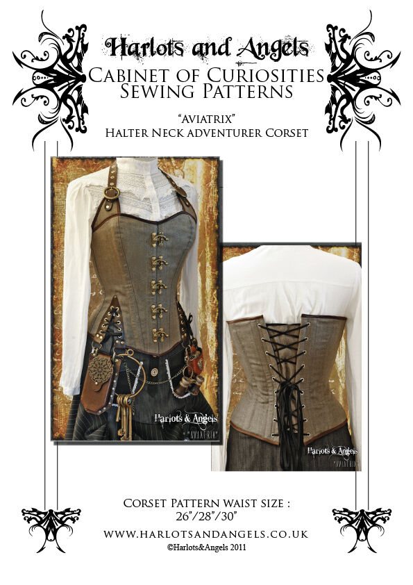 Corset Sewing pattern, Steampunk Pirate, Cosplay, Full Picture ...