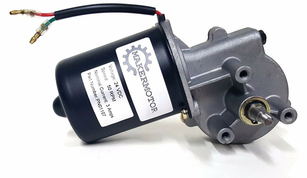 Electric gear motor 24v low speed 50 rpm gearmotor dc ebay for Low rpm motor dc