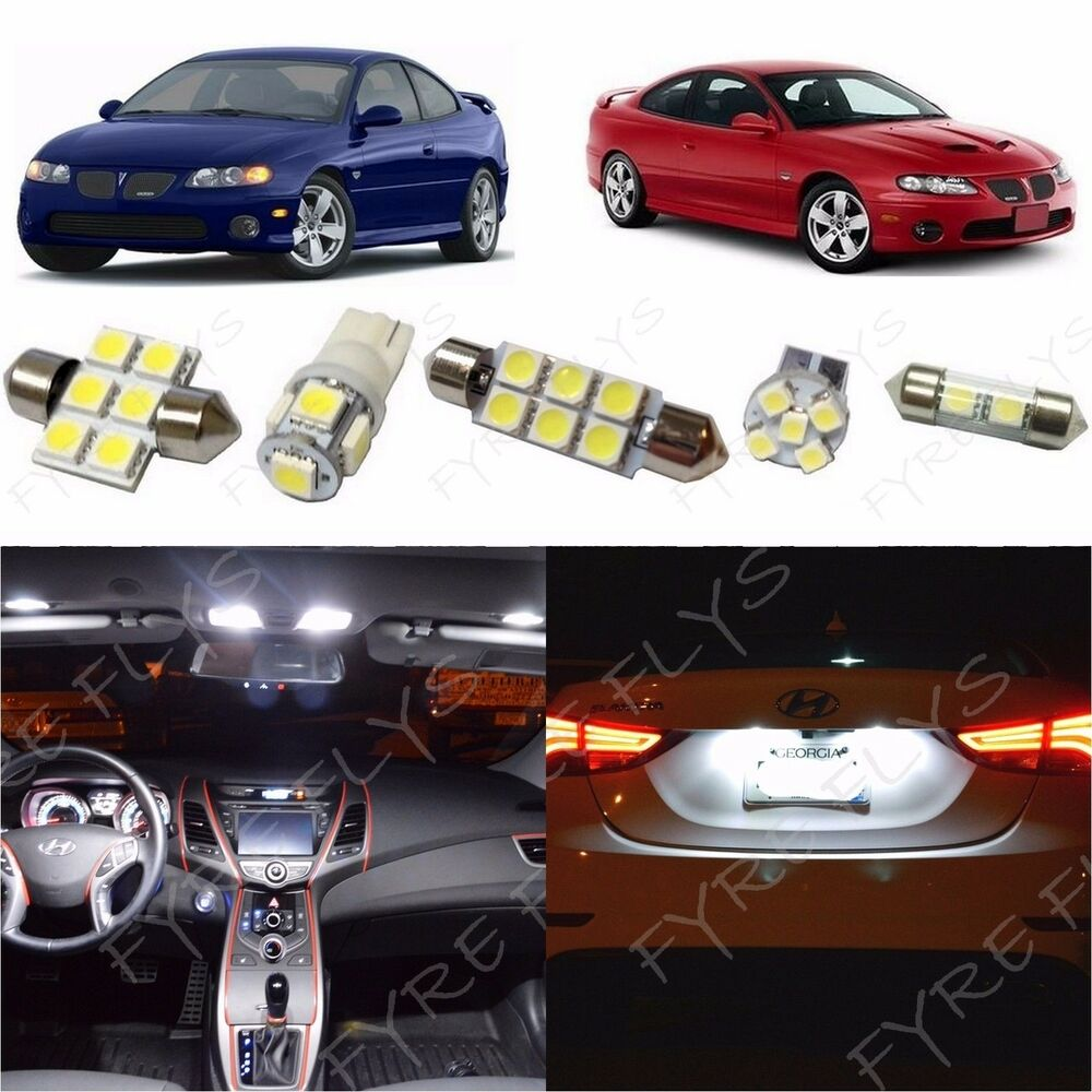 12x White Led Lights Interior Package Kit For 2004 2006 Pontiac Gto Pg1w Ebay