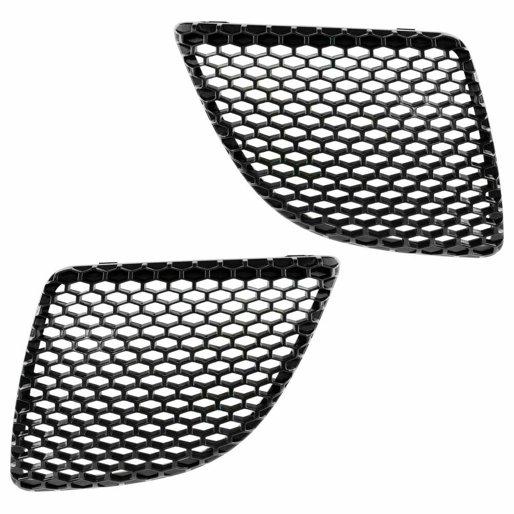 front upper grille insert mesh black left  u0026 right pair for