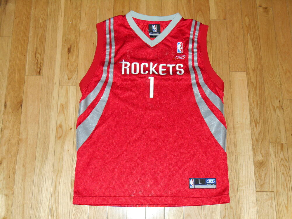 REEBOK TRACY McGRADY HOUSTON ROCKETS YOUTH NBA THROWBACK TEAM REPLICA JERSEY  LRG  135a5a257