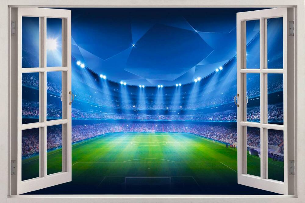 Football Wall Murals 28+ [ window wall mural ] | beach cabin window 7 wall mural,the