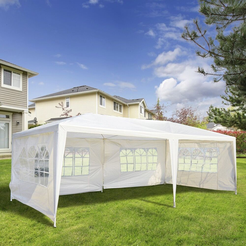 10 39 x 20 39 gazebo canopy party wedding tent w 4 removable window side walls wt ebay - Decorating a canopy tent ...