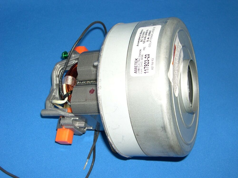 New genuine miele canister vacuum cleaner motor 117923 23 for Miele vacuum motor brushes