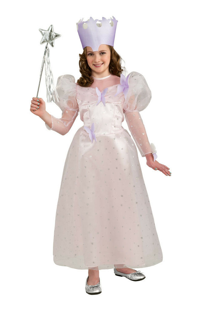 Details about  Glinda Good Witch Wizard of Oz Pink Princess Fancy Dress Halloween Child Costume