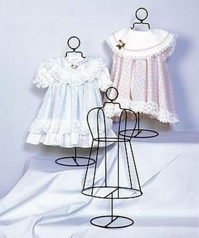 Infant Size Wire Dress Form Collectible Shelf Display Home Decor 18 Tall Ebay