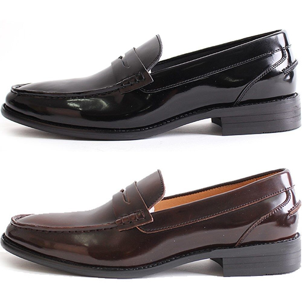 Black Patent Leather Loafers Shoes