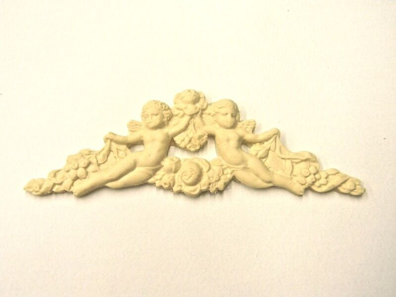 FLORAL ARCHITECTURAL FURNITURE APPLIQUES WOOD RESIN