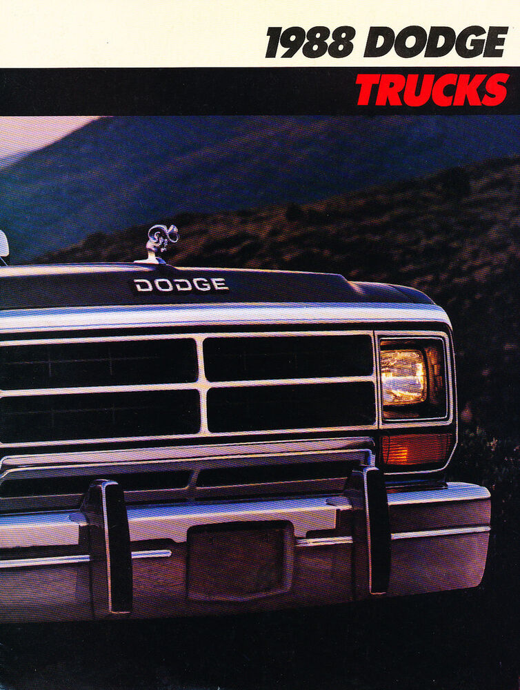 1988 Dodge Truck Sales Brochure Catalog Ram Ramcharger