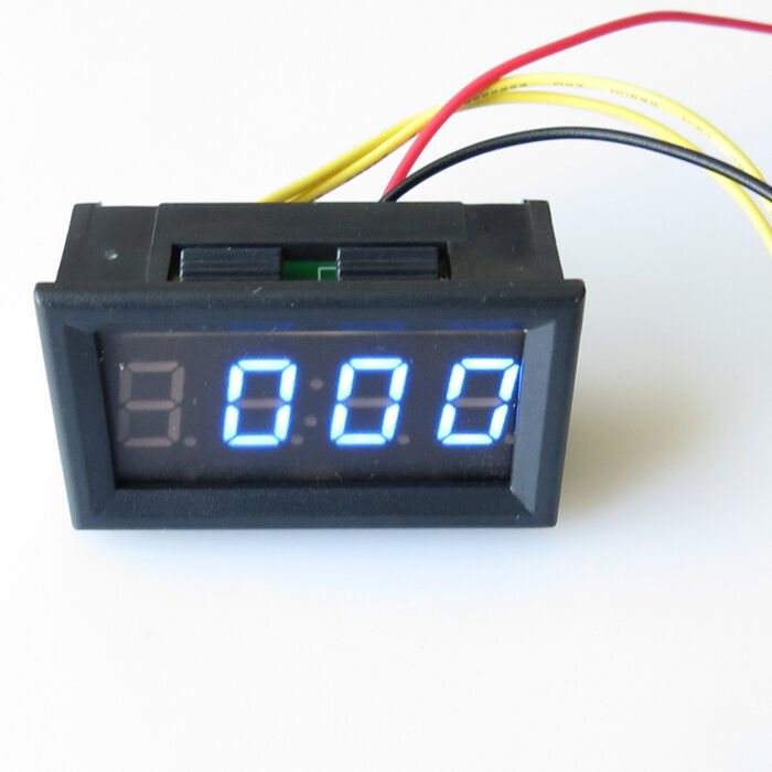 Hour Meters Panel : Blue led dc hour meter panel digital clock timer