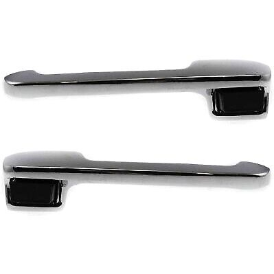 Exterior Door Handle For 80 91 Ford F 150 80 96 Bronco Set Of 2 Front Chrome Ebay