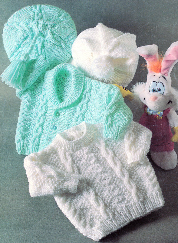 BABY KNITTING PATTERN ~ ARAN 16