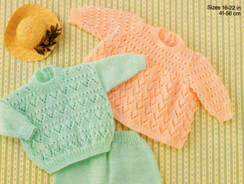 Knitting Pattern Angel Top : BABY KNITTING PATTERN ~ DK ~ 16