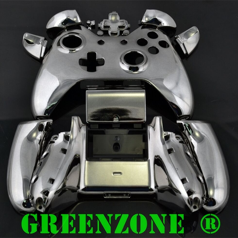 Black Chrome Xbox One Replacement Custom Controller Shell ...
