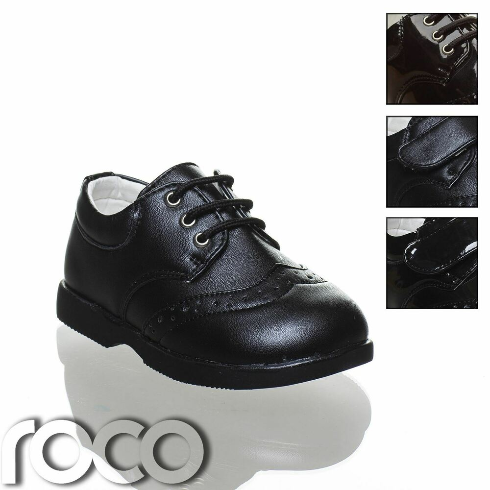 baby boys black brogue shoes boys shoes lace up shoes