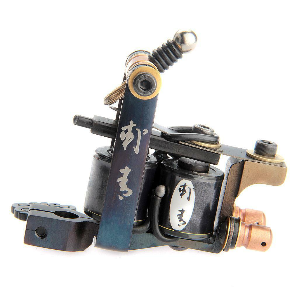 Professional tattoo machine gun 10 wrap coils liner shader for Tattoo gun parts
