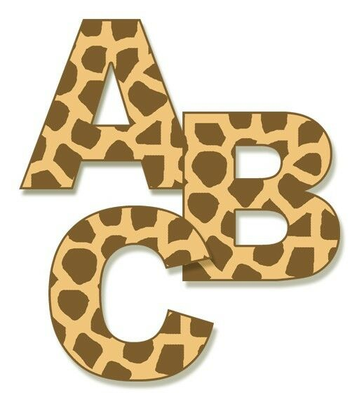 letter wall stickers jungle giraffe alphabet letter wall decals personalize 17123