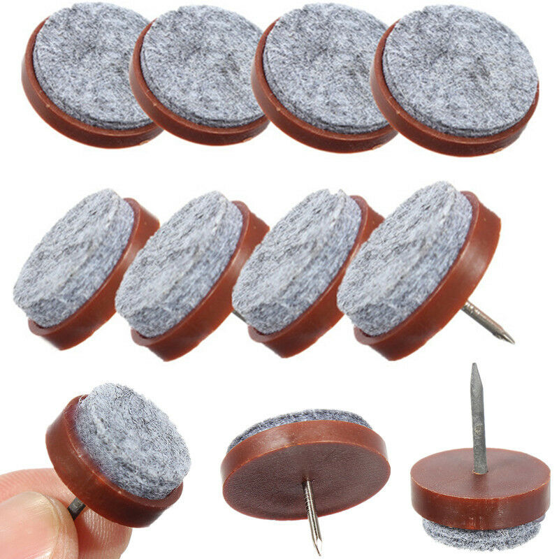 20Furniture Table Chair Leg Floor Pad Skid Glide Slide DIY Felt Nail
