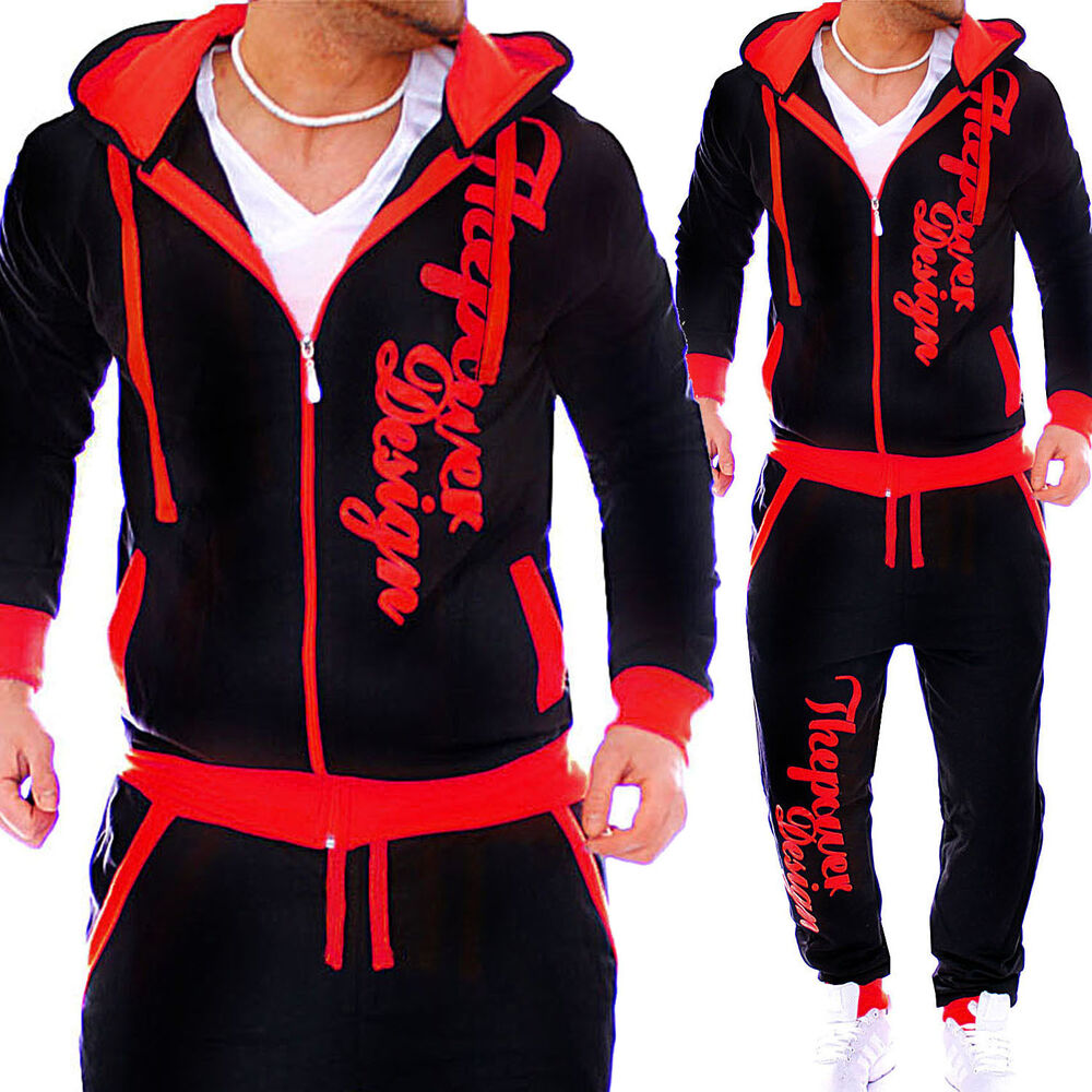herren jogginganzug jogging hose jacke sportanzug sporthose fitness hose s xxxxl ebay. Black Bedroom Furniture Sets. Home Design Ideas