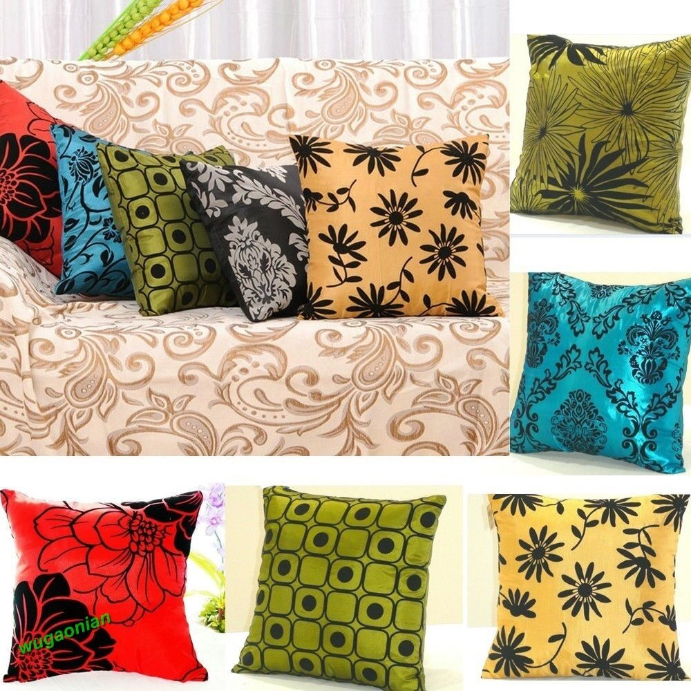 New square pillowcases bed sofa throw pillow cases car for Decorative bed pillow case