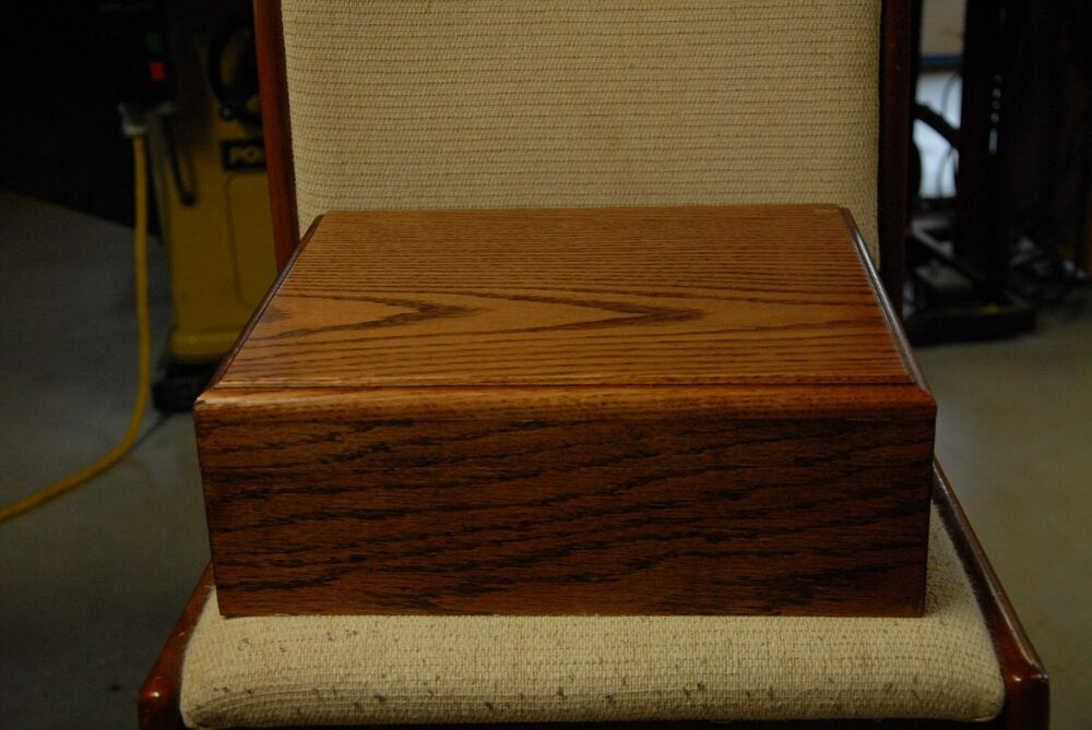80 Slabs Solid American Red Oak Storage Coin Box For