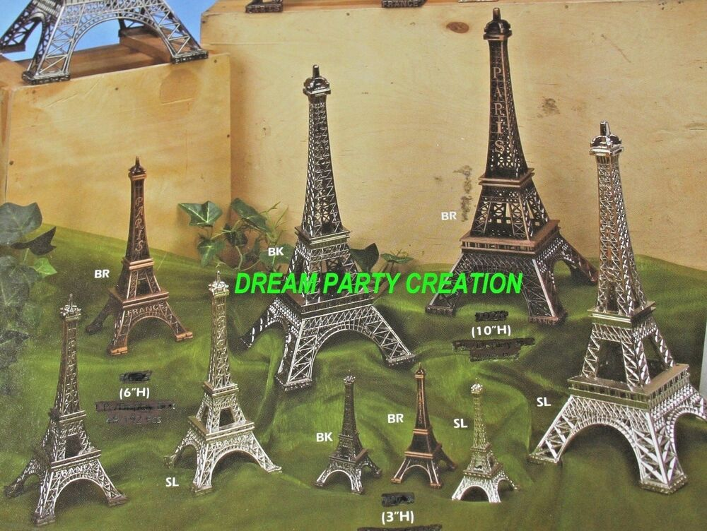 Eiffel tower paris france metal stand model for table for Art decoration france