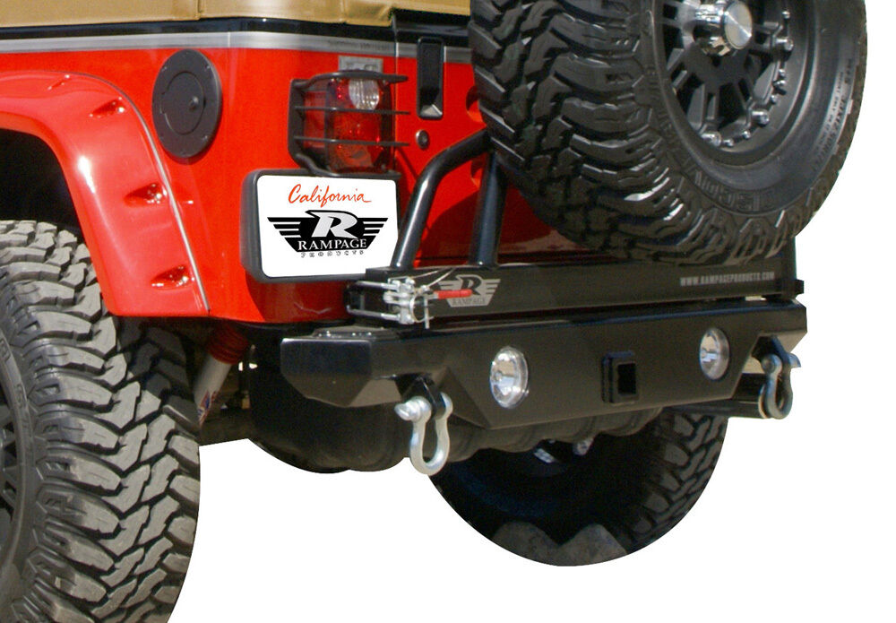 New Semi Gloss Rear Recovery Bumper W Carrier For 76 06