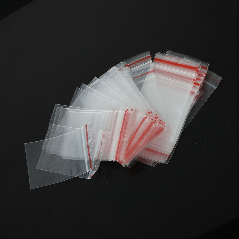 500pcs 3sizes ziplock zip zipped lock reclosable plastic poly clear seal bags ebay. Black Bedroom Furniture Sets. Home Design Ideas