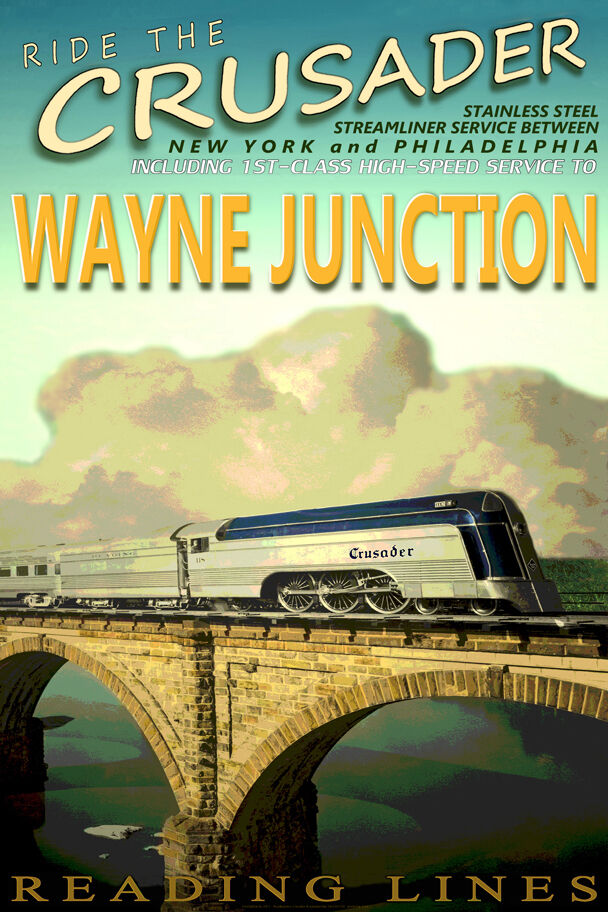 1000+ images about Vintage Railroad Travel Posters on ... |Reading Railroad Train Art Prints