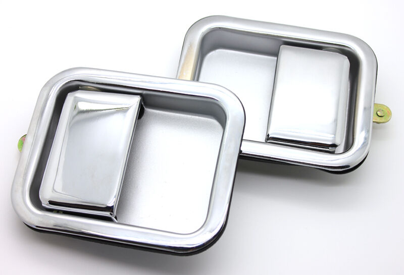 New Chrome Full Door Exterior Outside Handle Pair 1987