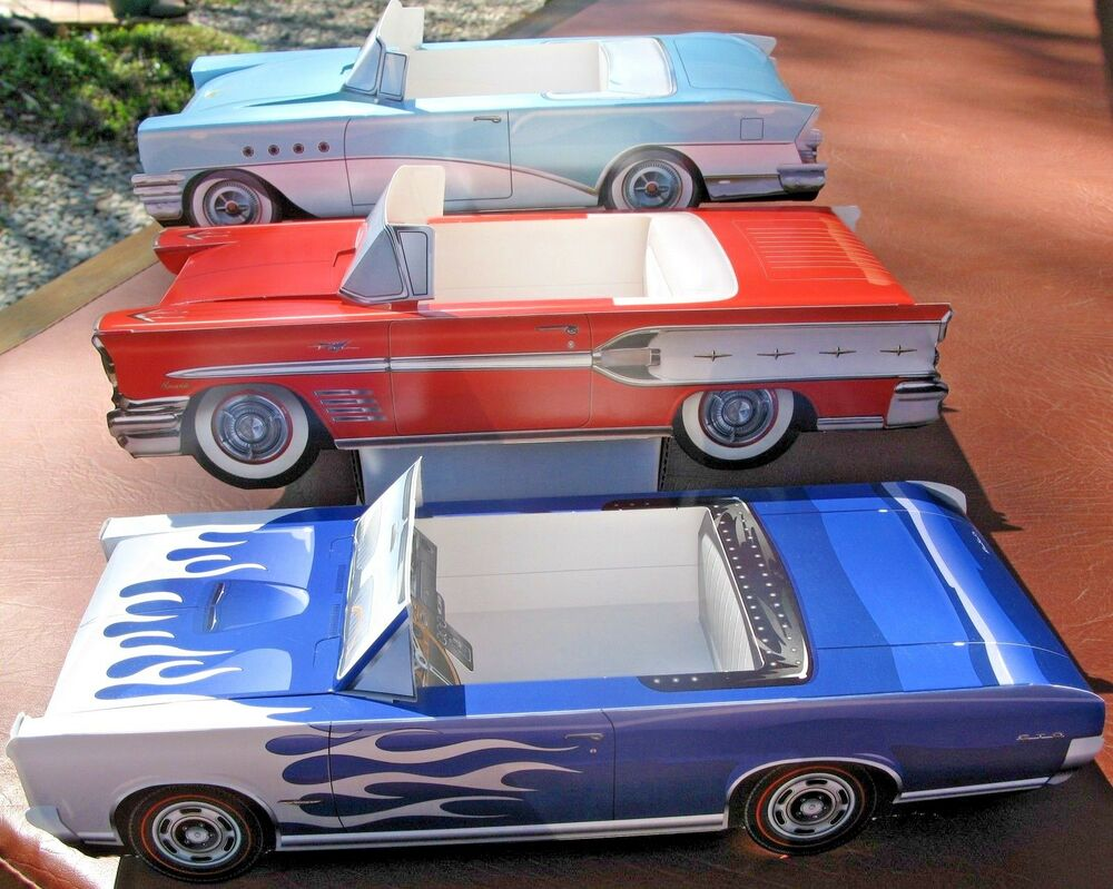Assorted Classic Cardboard Cars Food Box Tray Party