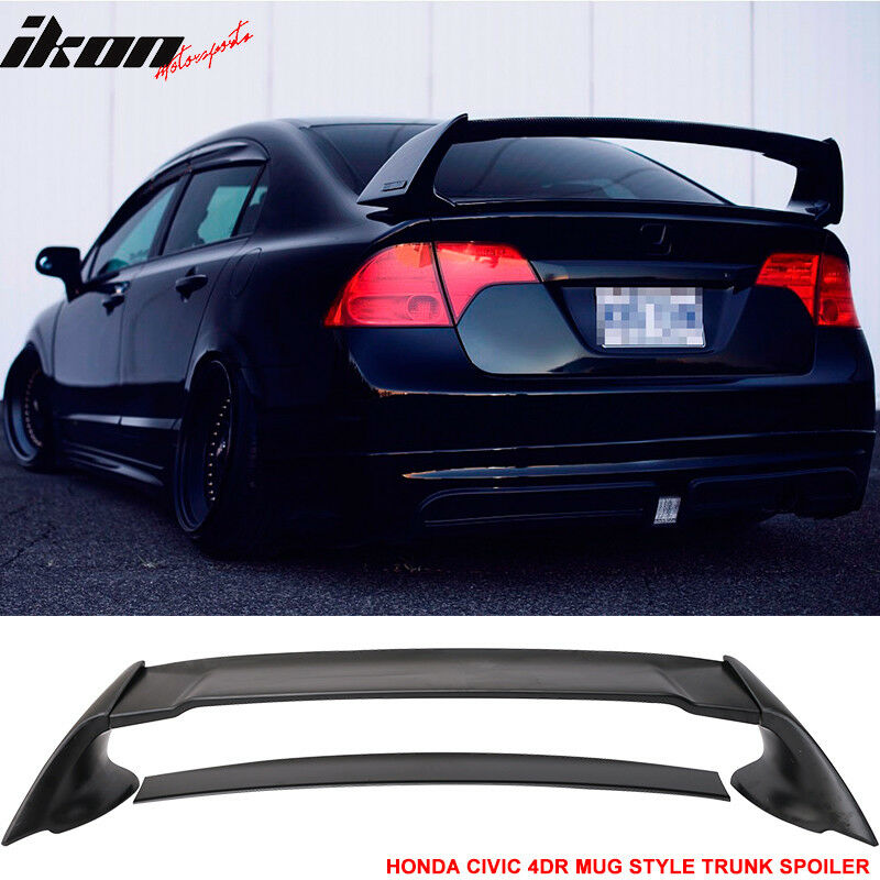 06 11 Honda Civic 4dr Rear Trunk Spoiler Wing Abs Mugen
