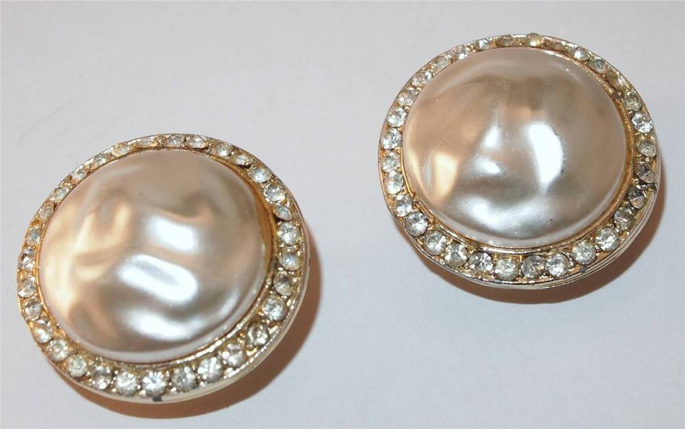 magnetic pearl earrings vintage signed coro magi clip magnetic faux pearl button rhinestone earrings ebay 7560
